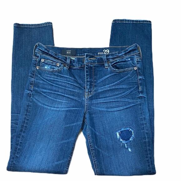 J Crew Reid Cone Denim Skinny Straight Leg Jean 29